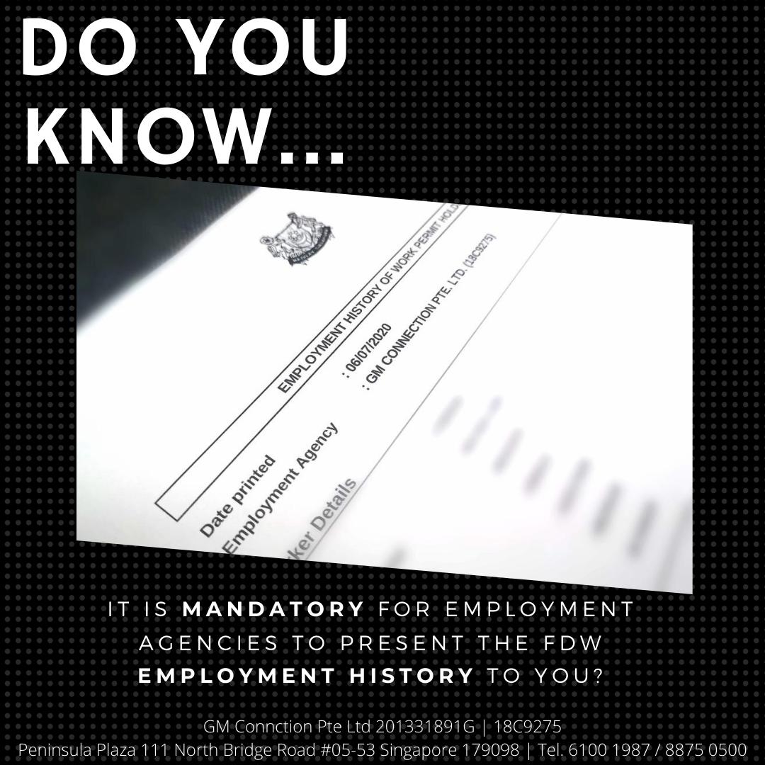 FDW Employment History