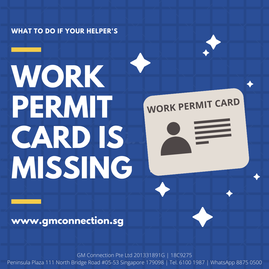 Maid Work Permit Card is Lost