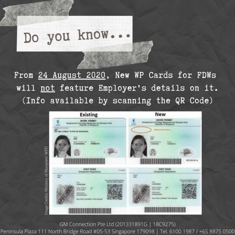 New Work Permit Card (FDW)