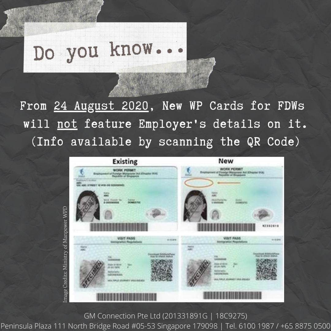 New Work Permit Card (FDW)